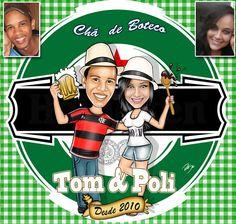 Caricaturas digitais, desenhos animados, ilustração, caricatura realista: Desenho casal para Chá de Boteco!!