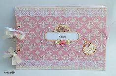 Ružový fotoalbum pre dievčatko, scrapdesign, scrapbooking, handmade, writting, DIY, album