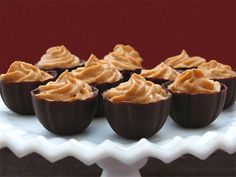 Homemade Chocolate Dessert   Learn how to make these chocolate cups and fill them any mousse or pudding for finger-size dessert