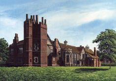 "003CV054 - Gainsborough Old Hall circa 1890  16"" x 12"" Print Only £12.99 9.5"" x 6.5"" Mounted to 14"" x 11"" - £12.99"