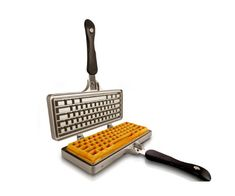 The Keyboard Waffle Iron (KWI) is a unique kitchen gadget that creates delicious Belgian-style gourmet waffles in the shape of your beloved computer keyboard. Its & design works on the kitchen stove, backyard BBQ, or outdoor grill. Cool Kitchen Gadgets, Cool Gadgets, Cool Kitchens, House Design Photos, Modern House Design, Belgian Style, Kitchen Stove, Cooking Gadgets, Waffle Iron