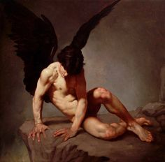 """Roberto Ferri """"Angelo-Caduto"""" Ferri is an Italian artist and painter from Taranto, Italy, who is deeply inspired by Baroque painters (Caravaggio in particular) and other old masters of. Whispers In The Dark, Baroque Painting, Different Art Styles, Art Of Man, Sculpture Painting, Goth Art, Caravaggio, Italian Artist, Old Master"""