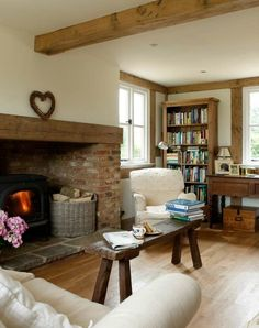 Small Inglenook Fireplace Designs Best Cottage Fireplace Ideas On House Design, House Interior, Fireplace Design, Home Living Room, Cottage Interiors, Home, Cottage Fireplace, Inglenook Fireplace, Home Decor
