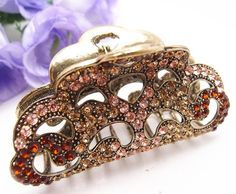 JEWELED SQUARE RHINESTONE JAW CLIP SUPERIOR QUALITY ITEM CHOICE OF COLORS