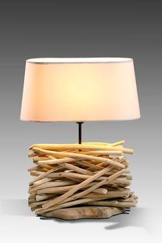 Driftwood branch lamp