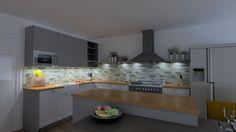 Klassieke keuken met massief houten werkblad