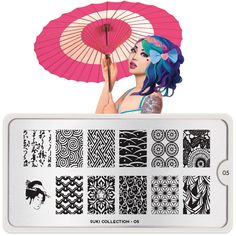 Inspired by traditional Japanese motifs, MoYou London's Suki Nail Stamping Plate collection will bring a touch of Nippon to your nails! Moyou Stamping, Nail Art Stamping Plates, Nail Plate, Asian Nails, Nail Art Designs Images, Nail Stamper, Natural Gel Nails, London Nails, Image Plate