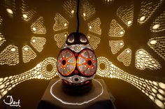 Gourd lamp with silver wire by DartLamp on Etsy Gourd Lamp, Gourds, Paper Cutting, Lamps, Wire, Lights, Silver, Etsy, Lightbulbs