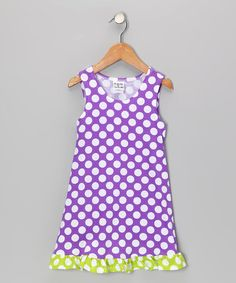 Take a look at this Kiwi Punch Polka Dot Fit & Flare Dress - Infant, Toddler & Girls by Bubble & Squeak on today! Cute Girl Outfits, Fun Prints, Fashion Kids, Fit Flare Dress, Cute Girls, Ideias Fashion, That Look, Polka Dots, Infant Toddler