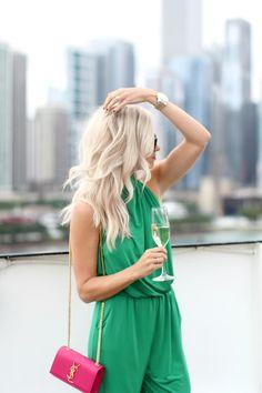 Ripley Rader Emerald Green Jumpsuit - Mckenna Bleu