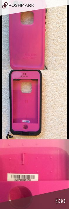 LIFEPROOF IPHONE CASE FOR IPHONE 5/5s Pink and black iPhone case for IPhone 5/5s.  Excellent condition!! LifeProof Accessories Phone Cases