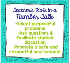 First Grade Kate: Number Talks Book Study - Chapters 1 & 2