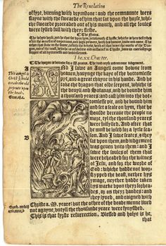 1552 Tyndale Illustrated New Testament - Revelation Chapter 20. Thanks greatsite.com