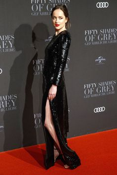Hamburg Premiere - Dakota Johnson in Saint Laurent attends the Berlin Film première on February 7, 2017