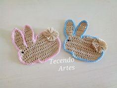 Tecendo Artes em Crochet: Coelhinhos Cute para Apliques!