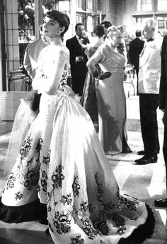 Audrey Hepburn wearing the iconic Givenchy gown in Sabrina, 1954
