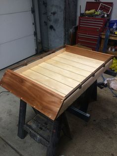 Handmade wood roof rack.
