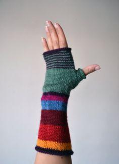 Multistriped Wool Gloves - Color Blocking Gloves - Striped Gloves- Fall Accesories - Colorful Gloves - Fashion Gloves nO. 114