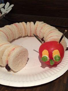 Caterpillar sandwiches Toddler Food, Toddler Meals, Caterpillar, Being Ugly, Bugs, Sandwiches, Club, Activities, Breakfast