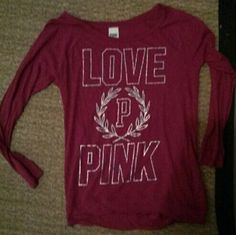 PINK TOP Small pink top excellent like new condition PINK Victoria's Secret Tops Tees - Long Sleeve