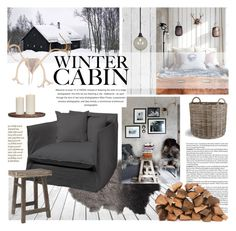 """a cabin in the woods"" by jesuisunlapin ❤ liked on Polyvore featuring interior, interiors, interior design, home, home decor, interior decorating, Bloomingville, Garden Trading, Robert Abbey and H&M"