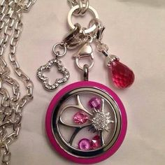 New pink locket from Origami Owl.! I Love Pink :) visit Ashley website @ www.asaylor.origamiowl.com  Thanks!