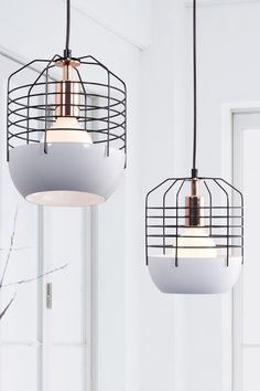 Mod white cage lamp (home, decor, lighting, lamp)