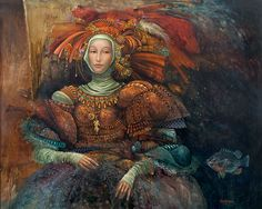 "La Duquesa by James C. Christensen LIMITED EDITION CANVAS Image size: 21""w x 17""h. Limited Edition of: 125  $395.00"