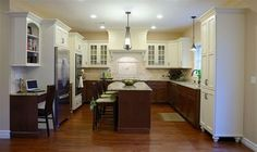 kitchen cabinets different color on bottom | ... top cabinets white and stain the bottom cabinets dark brown like these