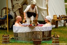 Recreating the Tudor era bath. © Ole Houen/yakkerDK 2010