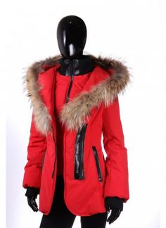 Sicily Chris Jacket Red   miX miX colleXions Stylish Coat, Winter Dresses, Sicily, Canada Goose Jackets, Fashion Inspiration, Fur Coat, Winter Jackets, My Style, Red