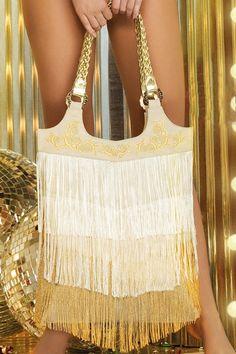 #gold #fringe <3  Paradizia Swimwear 'Studio 54' Bag by Paradizia 2013 | The Orchid Boutique