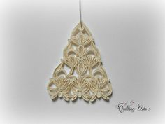 Christmas ornament-quilled ornament tree-quilling by PaperArtbyAda