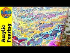 DecoArt acrylic dirty pour - repour of a fallen painting - Acrylic Pouring