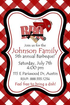 personalized bbq party birthday invitation customized digital invite you print barbeque picnic block party custom