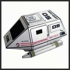 Star Trek - Type 15 Shuttlepod Free Paper Model Download - http://www.papercraftsquare.com/star-trek-type-15-shuttlepod-free-paper-model-download.html