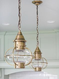 Melissa - these would be the perfect-est lighting for that living room!!  What a perfect Nautical touch! Coastal Living ⚓