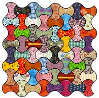Applecore quilt template and instructions