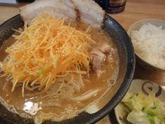 Juku-miso ajituki-shiraga-negi ramen (熟味噌味付きしらがねぎ)
