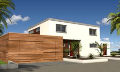 Automatic sectional wooden garage door KAMÉLÉO BOIS by SDA BFT