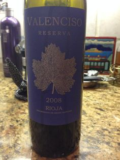 +2008 Valenciso Rioja Reserva - Lush fruit and oaky spices on the nose. Wonderful tannins. Great balance and harmony. A stunning wine.