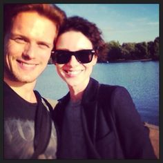Sam HeughanVerified account ‏@Sam Heughan This was a special day for us, way back in London before the start.  Today is another! X @caitrionambalfe