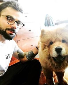 Virat Kohli with KL Rahul's pet Simba For more cricket fun click: http://ift.tt/2gY9BIZ - http://ift.tt/1ZZ3e4d