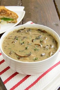 Ultimate Mushroom Soup - seriously the best soup ever! Super healthy and easy to make! Vegan and gluten free! #JamiesGlutenfreerecipes