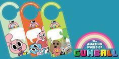 Printable door hangers - The amazing world of Gumball
