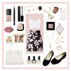 """🎀Kill em with Kindness🎀"" by adoremyeverything ❤ liked on Polyvore featuring MSGM, Charlotte Russe, Prada, Olivia Burton, Chanel, Lime Crime, Givenchy, L'Oréal Paris, Balmain and Bobbi Brown Cosmetics"