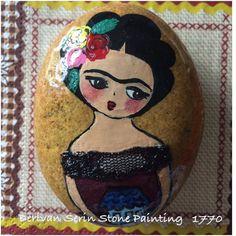 Frida stone painting