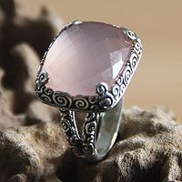Sterling silver cocktail ring, 'Heart of Rose' from @NOVICA, They help #artisans succeed worldwide.