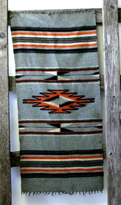 Native American Grey + Orange Rug via Cactus Creek