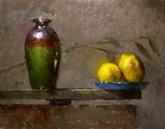 Lemons on the Edge by Kathy Tate Oil ~ 11 x 14